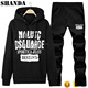 Men's Sports Running Tracksuit Hooded Sweatshirts Casual Pullover Hoodie+Pants