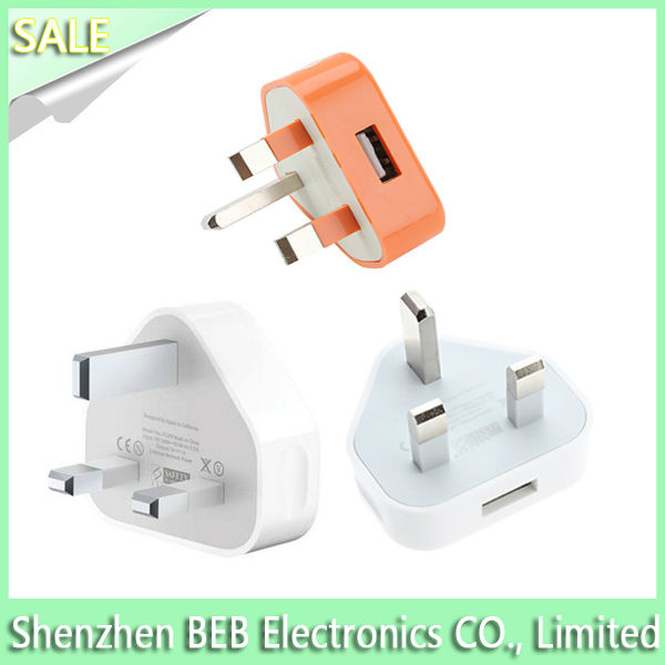 Fast charging speed 5V 1A uk ac plug for iPhone5 on sale