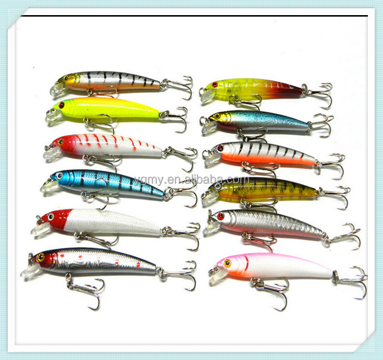 <strong>fishing</strong> lure 10colors Minnow Lure 9.5CM/8.5G <strong>fishing</strong> bait <strong>fishing</strong> tackle 6# high carbon steel anchor hook