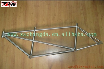 XACD custom titanium tandem track bike frame with double seat tube bike Ti tandem bike frame
