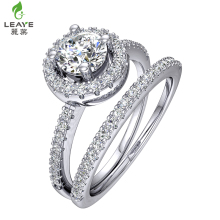 Direct factory grade 3A zircon diamond cut 925 italian silver drill bit engagement ring