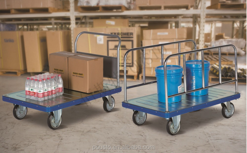 Large flat steel plate trolley