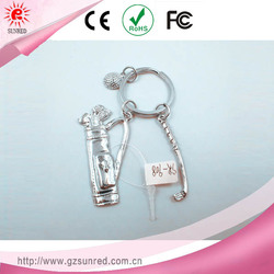 Alloy Golf Suit Keychain Ring , Custom Souvenir Promotional Gift Key chain