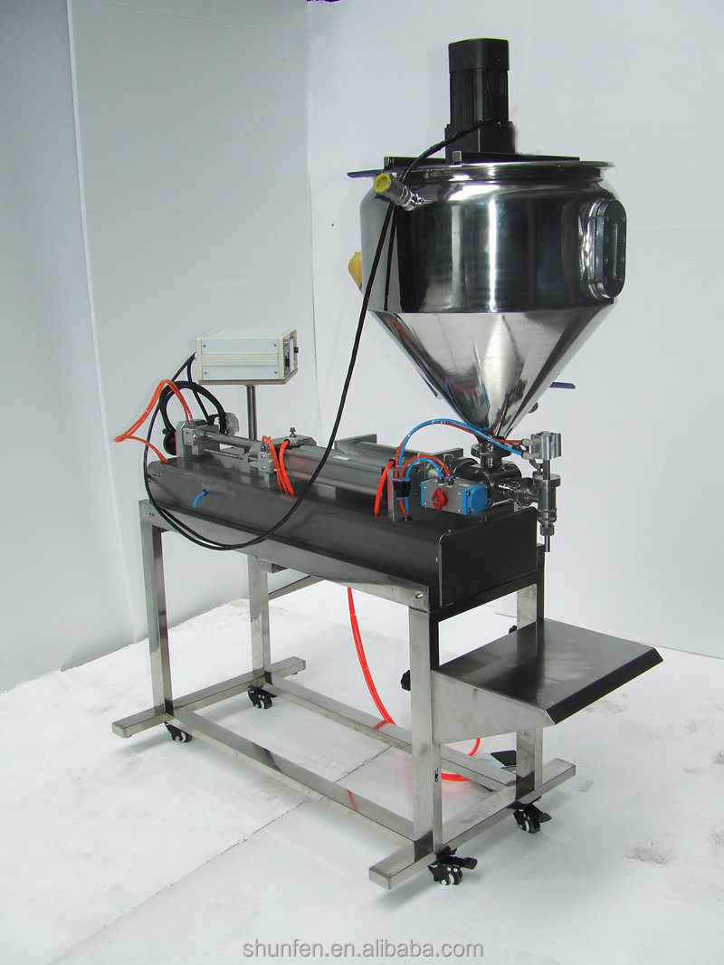 Semi-auto Paste Filling Machine with Stand (Piston cream filling machine with table, sauce filler, dressing filler)