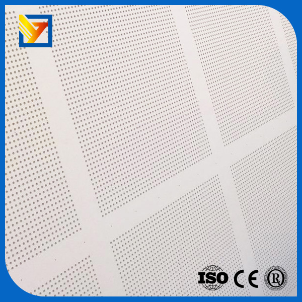 picture of perforated gypsum ceiling board