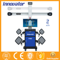 Automatic auto tracking 3D laser wheel alignment equipment with global vehicle database IT662