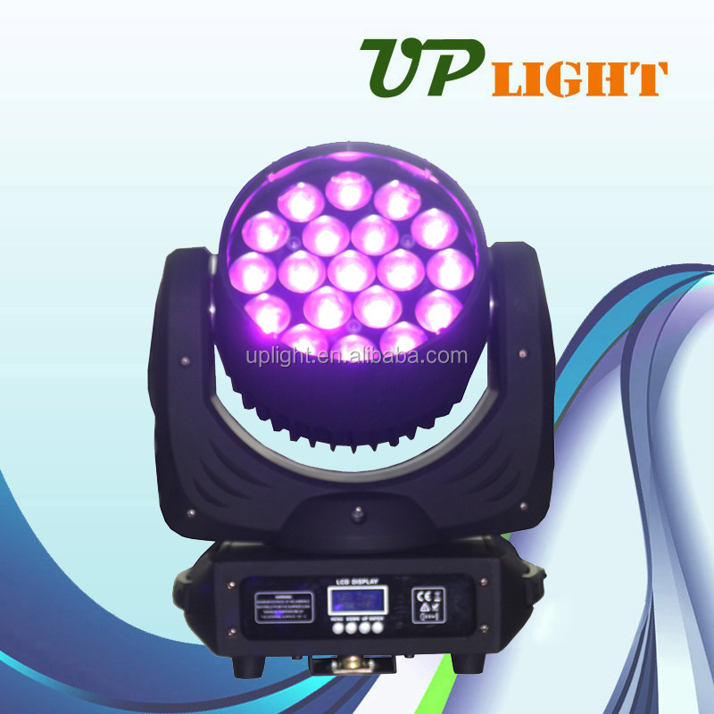 zoom moving head washer 19*12w RGBW 4in1 led beam lights