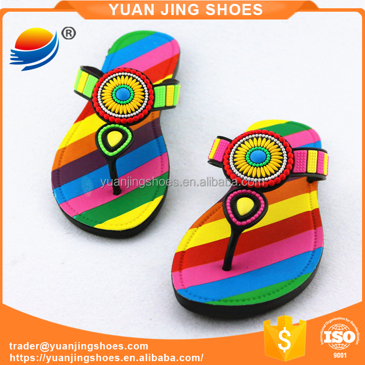 PVC Air Blown Women Flip Flop Slipper 1J523+9W