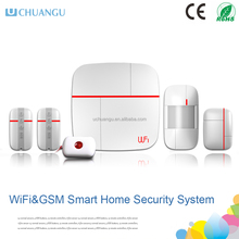 2016 Newest Smart Home Alarms WIFI+GSM Home alarm system
