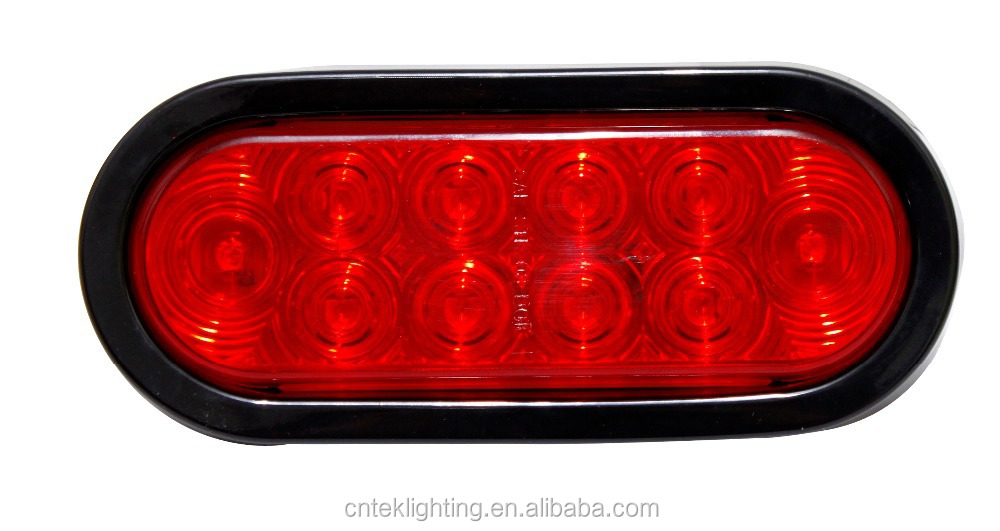 Truck And Trailer Lights : Inch oval clear led trailer light tail truck