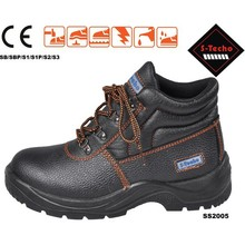 Best selling safety shoes with real leather and steel toe