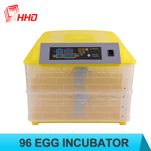 2018 110V, 220V, 220+12V full automatic poultry equipment mini chicken egg incubator spain YZ-96