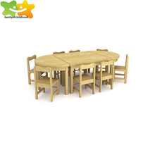 New kids table and chair set kindergarten wood furniture