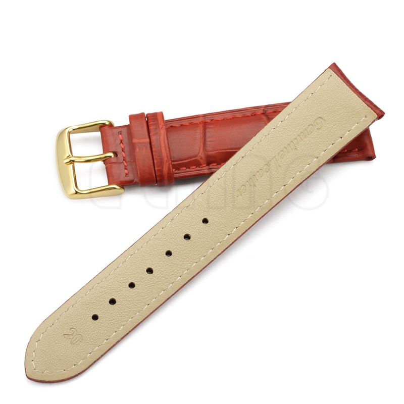 12 13 14 15 16 18 19 20 21 22 24mm Calf Watch Band Strap with pin buckle
