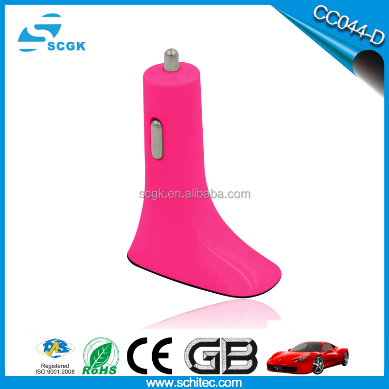Schitec high-heeled shoe shape boots shape dual usb car charger Model CC044