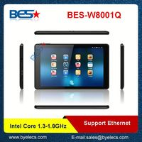 Newest designed intel baytrail quad core gps windows tablet computer