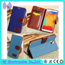 cell phone accessory flip case with card holder for samsung galaxy s4 mini
