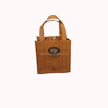 Custom high quality 6 cans non woven wine tote bag