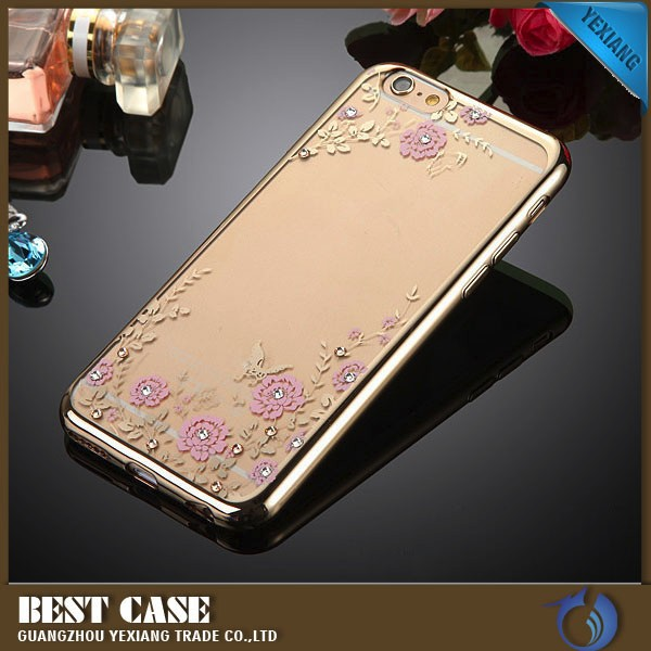for gionee s6 back cover, luxury diamond electroplate tpu case for gionee s6
