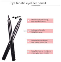 Hot Sell star stamp 2 in 1 liquid waterproof anti-smudge eyeliner pencil