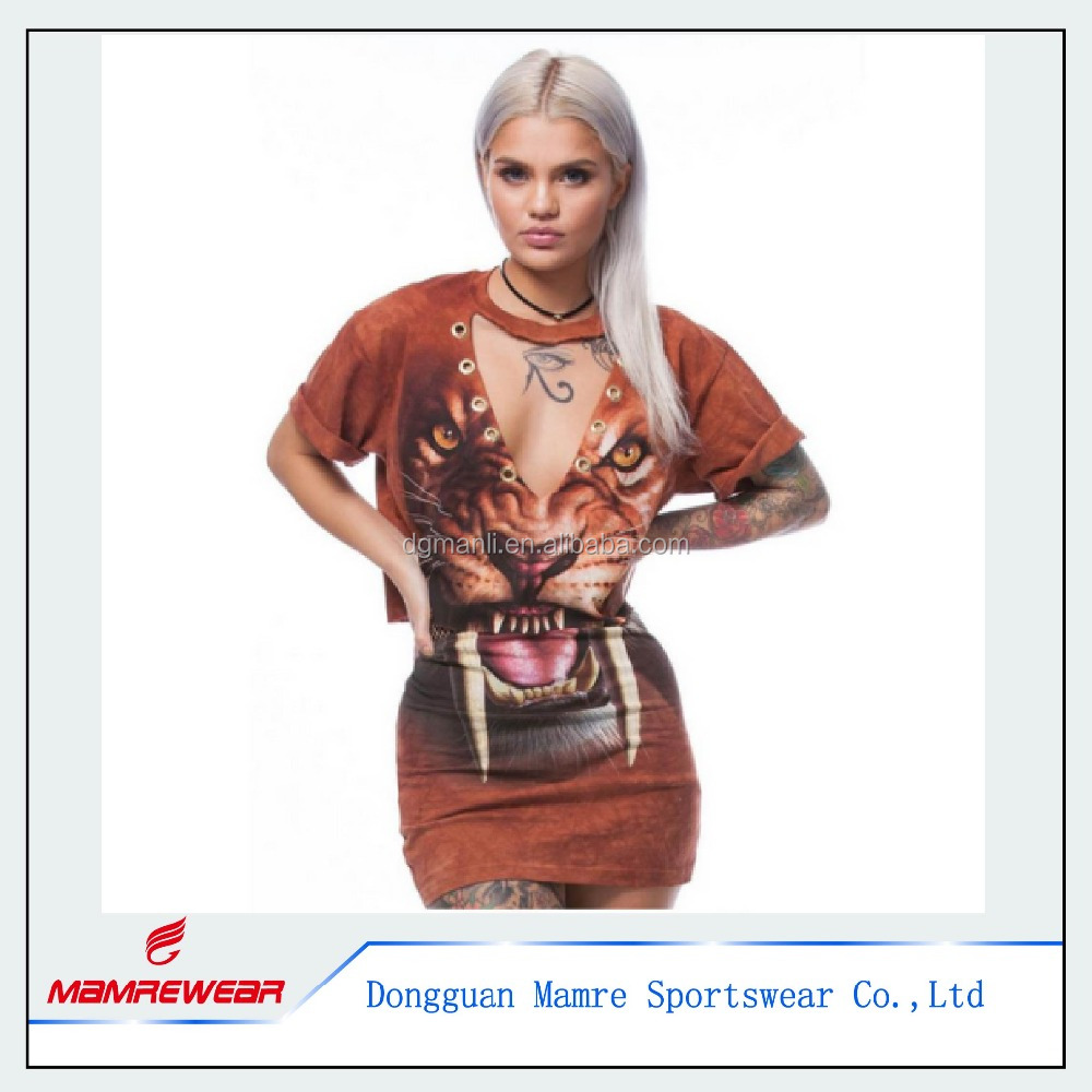 Women Sexy Short Sleeve Printed Clubwear Casual Fashion Dress 2pcs Sample Online Dress Clothing