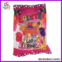Assorted fruity small lollipops