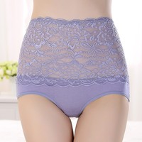 Zhudiman Women Underwear High Quality Comfortable Fabric Sexy Lace Ladies Padded Panties Transparent Lace Panties