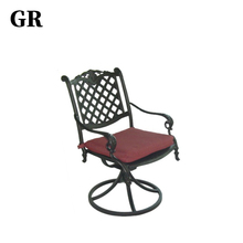 Luxury Cast Aluminum Outdoor Furniture Swivel Rocking Cafe Chair Price