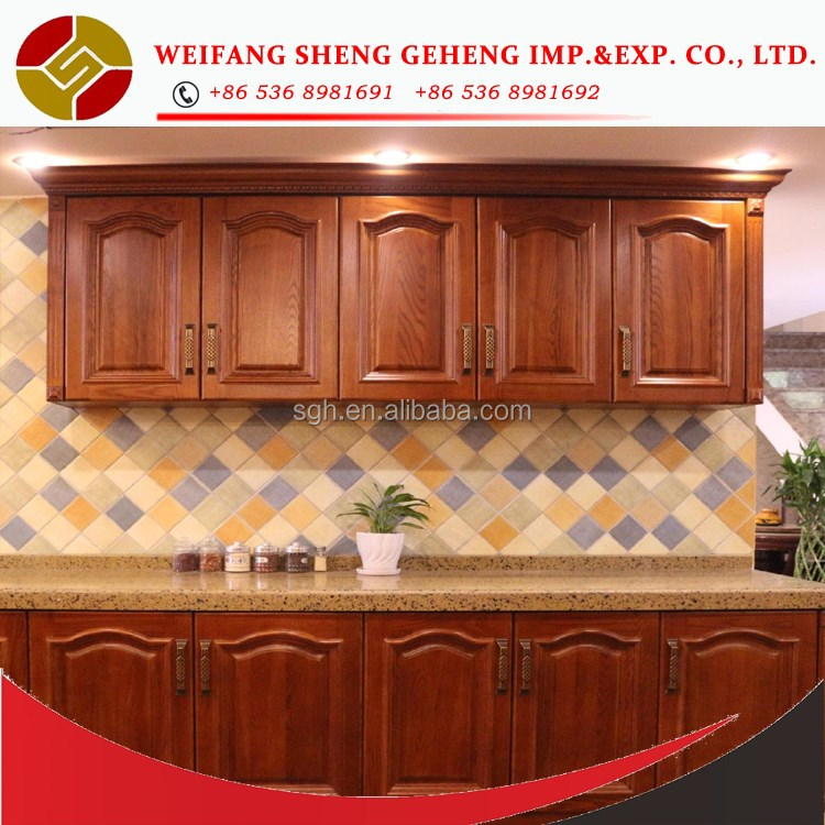 ANTIQUE CLASSICAL RTA ready to assemble promotion hot kitchen cabinet hot sale made in china by shenggeheng company