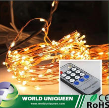 Wedding Decoration Copper Wire Colorful Mini Light Remote Control Led String for Xmas Holiday Lighting