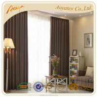 polyester-cotton fabric blackout window curtain latest designs 2015