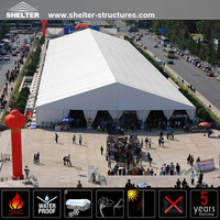 Guangzhou supply large event tents with curtains for sale exhibition marquee
