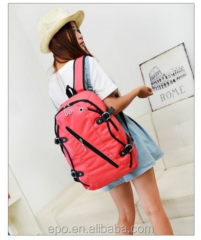 Wholesale designer nylon ladies backpack bags high school backpack women fashion for girls