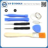 8 in 1 Opening Repair Screwdriver Set Kit Brush Clearing Cell phone Repair Tools Set for iPhone 7