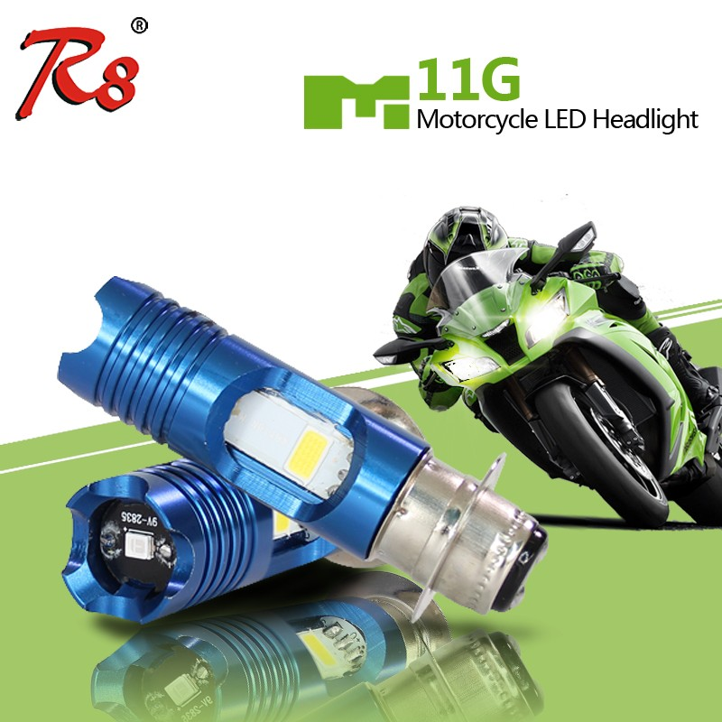 China factory direct P15D H6 P15D-25-1 led motorcycle headlight bulbs M11G motor bike driving lights 800LM 8w 6500k 3000k