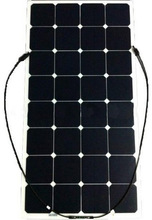 Good quality semi flexible solar panel 100w pv module for golf carts,cars,yachts,boats,home