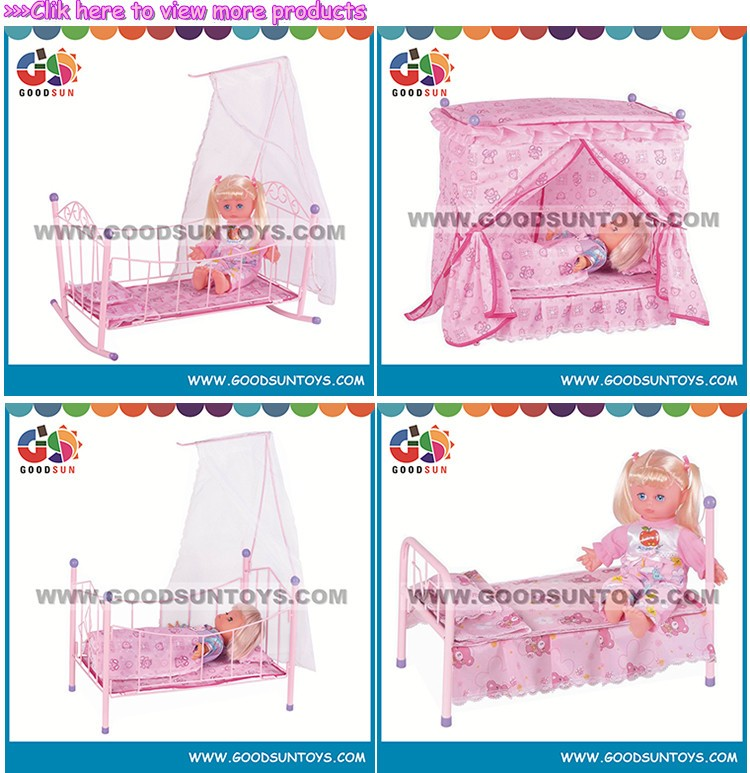 Cheap doll cribs with vinyl doll princess bed for girl