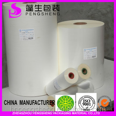 Professional manufacturer,pre-coating film,low static, bopp film