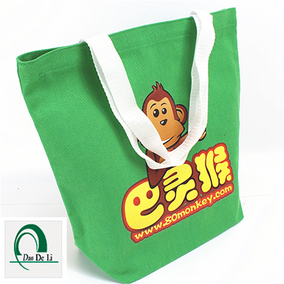 Recyclable top quality heat transfer printed cotton tote bag