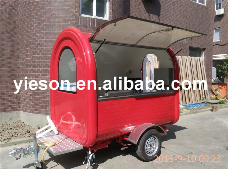 YS-FV300-6 High Quality hot dog cart mobile food truck