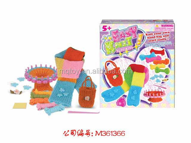 DIY knitting kit wool weave toy kids gift set