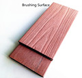 Deep wood grain solid capped wood plastic composite decking