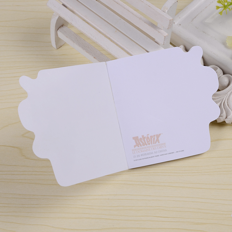 Notepad with custom logo for car shaped sticky notes