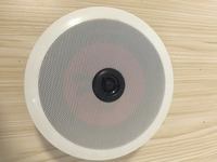 "ceiling speaker 6"" plastic mesh with high tone for public address system"
