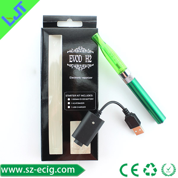 china whosale evod h2 kit electric cigarette huge vapor e cig starter kit