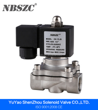 Low price square coil water solenoid valve 12v with stainless steel material