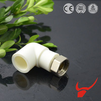 pipeline networks use in water heating system PPR fittings Elbow joint adapter