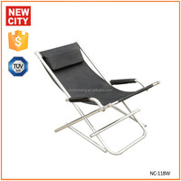 outdoor and indoor folding beach chair with wheel