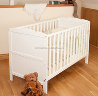 Simple Solid Pine Wood baby bed