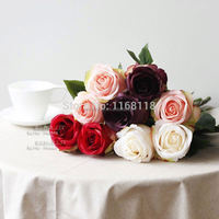 Free shipping artificial rose silk flowers Decorative Flowers for wedding decoration, 10pcs per lot